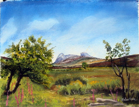 Haytor mixed media